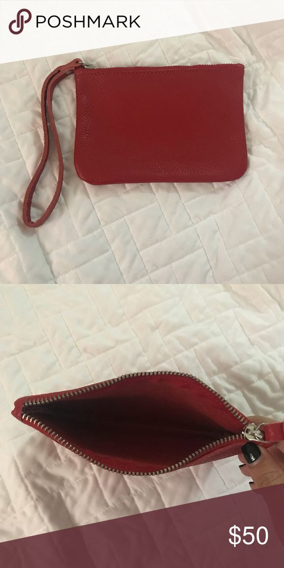 Cuyana Red Pebbled Leather Wristlet Cuyana Red Pebbled Leather Wristlet. Buttery soft leather. NWOT Cuyana Bags Clutches & Wristlets
