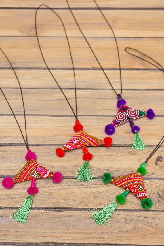 Hmong Necklace/ Ethnic / Hippie / Tribal by CHEZMOIMYHOME on Etsy