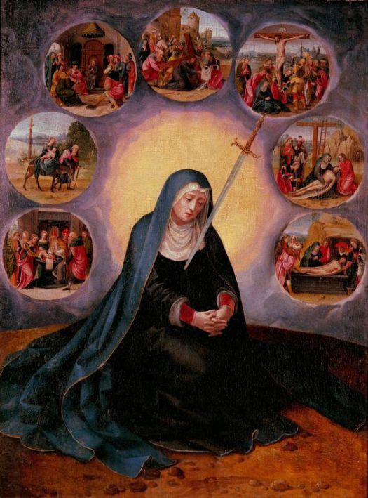 Los Siete Dolores de la Santísima Virgen.                                                                                                                                                     Más
