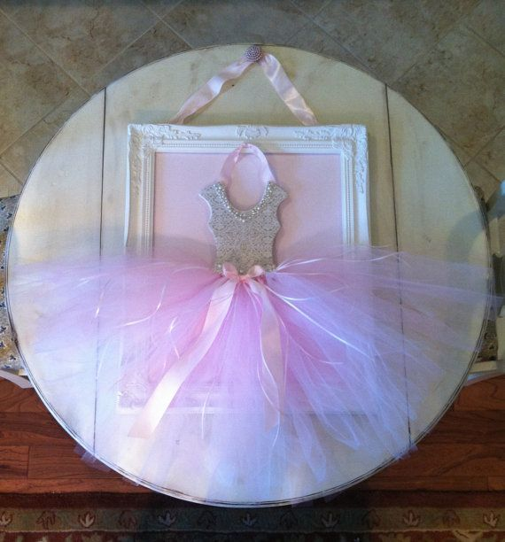 Ballerina Princess Wall Art With Tutu Tulle Pearl And