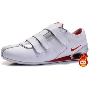 www.asneakers4u.com Mens Nike Shox R3 Velcro White Silver Red
