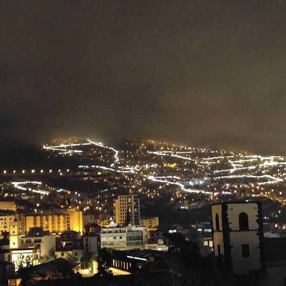 Funchal by night. Madeira, and Funchal itself, is so beautiful in many ways. It's bohemian and artfriendly, full of good food and mood.  #funchal #madeira #portugal #landscape #nightscape #night #ttavelblog #timokiviluoma