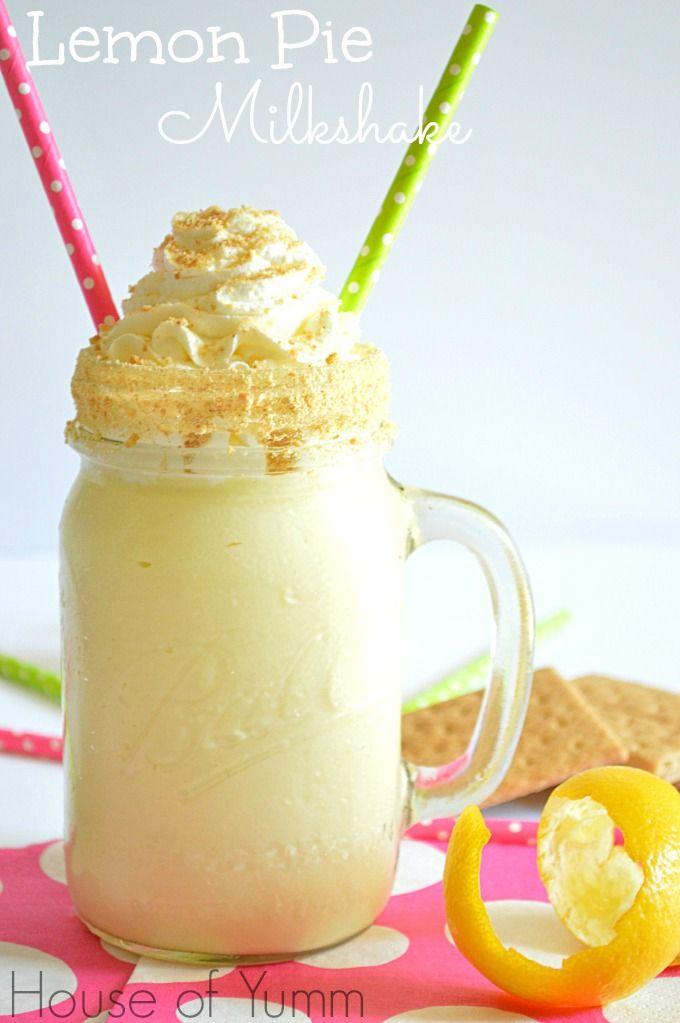 Lemon pie milkshake!  Only three ingredients.  Simple and so yummy!!  #houseofyumm