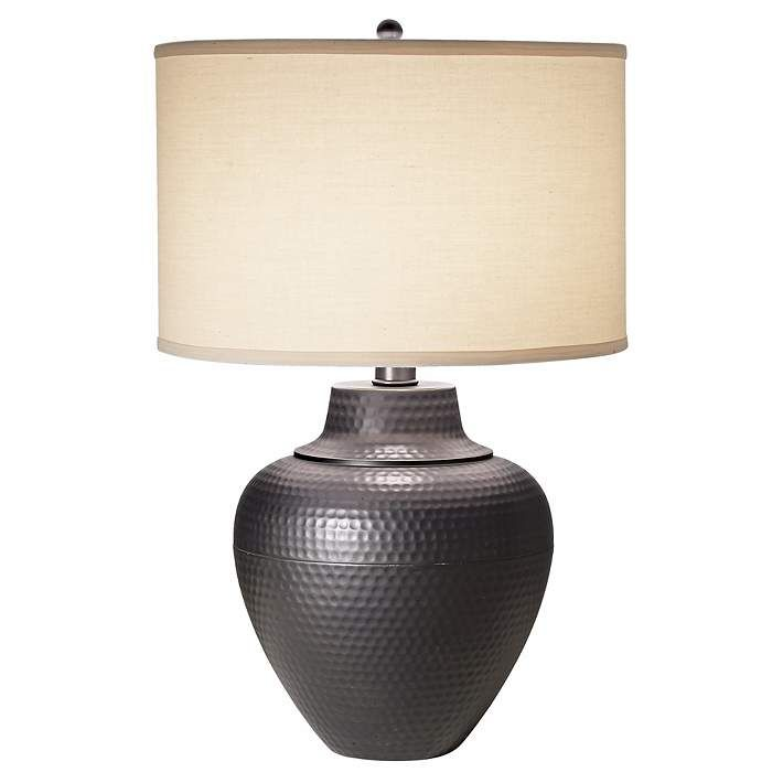 Maison Loft Hammered Pot Table Lamp By Franklin Iron Works R7784 Lamps Plus Table Lamp Lamp Table Lamp Design