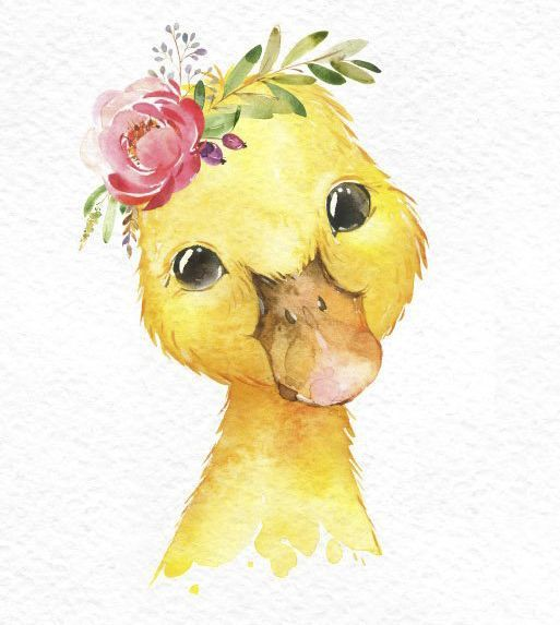 Farm foal calf duckling. Watercolor clipart small animals clipart, baby cow horse duck, country, flowers, kids, daycare art, nature, baby shower