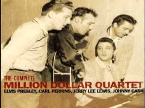 On this day in 1956, Elvis Presley, Johnny Cash, Jerry Lee Lewis and Carl Perkins happened to be in the same recording studio, and decided to have a jam. The engineer on the day thought it wise to start recording this impromptu one-hour event. The chance encounter has since gone down in history as The Million Dollar Quartet. You gotta hear it to believe it.