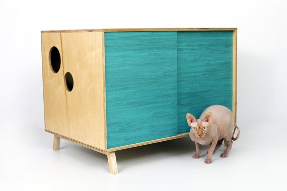 1000 images about colored wood stains on pinterest stains stain wood and mid century modern - Modern kitty litter box ...