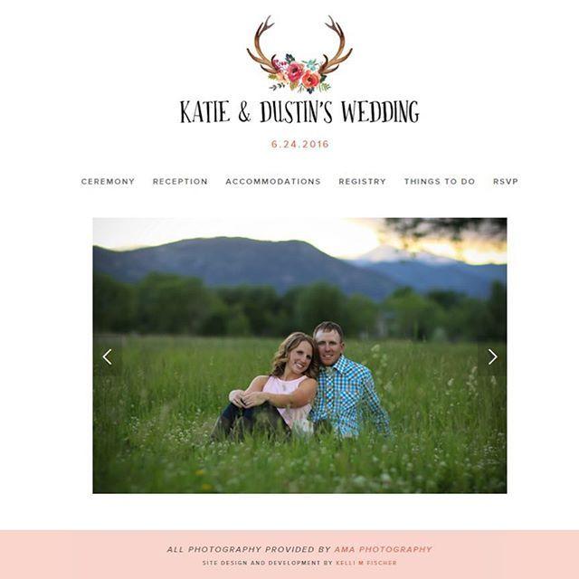 Wedding website launch day! I had a blast designing for this amazing couple ☺️ See more in my portfolio   kellimfischer.com   #weddingwebsite #squarespace #weddingwebsitedesign #risingtidesociety #communityovercompetition #freelancedesign #websitedesign