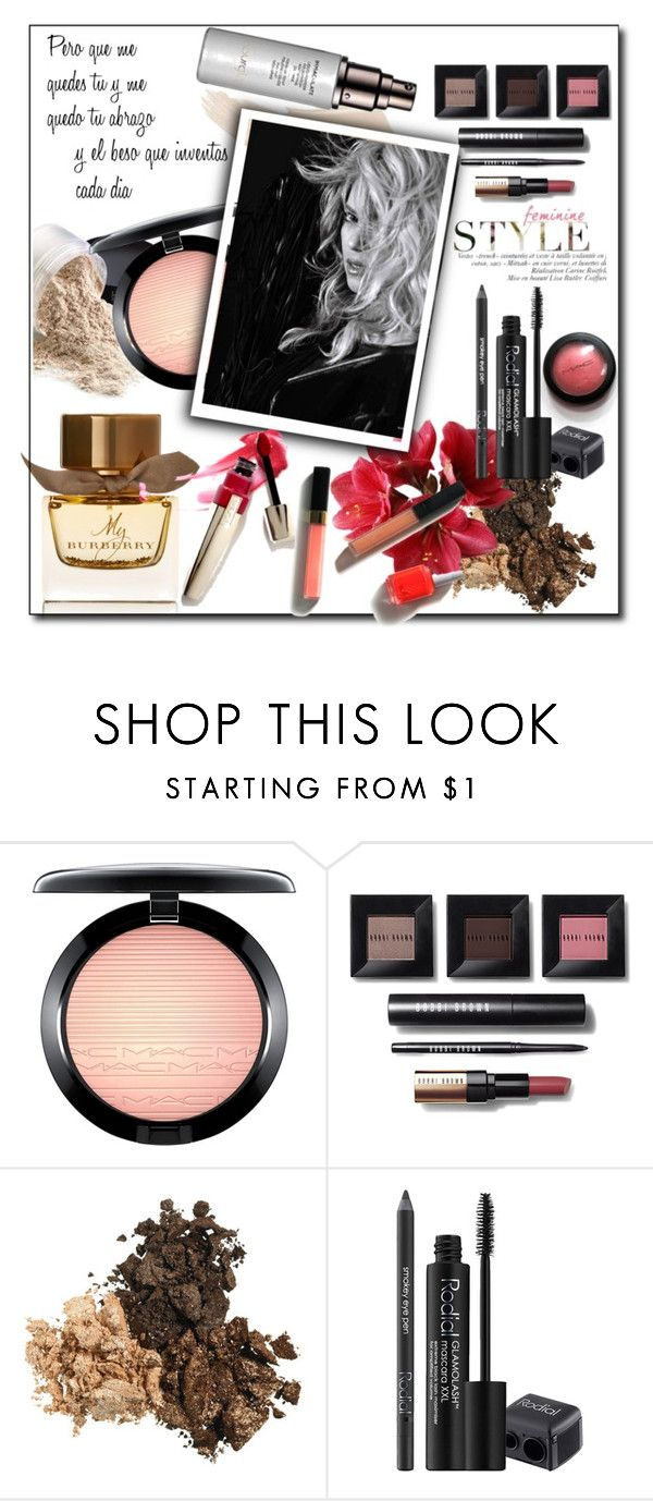 """""""que me quedes tu"""" by tatarataratata ❤ liked on Polyvore featuring beauty, MAC Cosmetics, Bobbi Brown Cosmetics, Rodial and Burberry"""