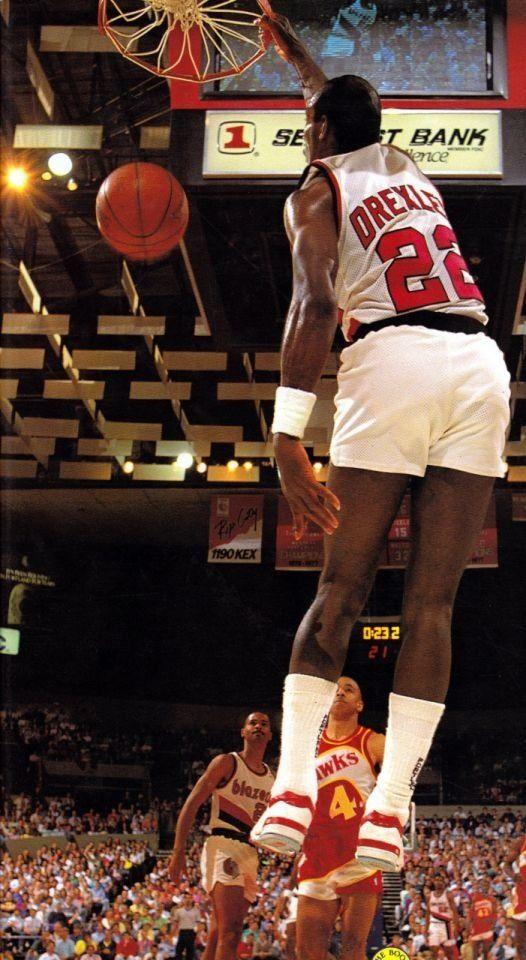 Clyde Drexler Portland Trail Blazers Spudd Webb Atlanta Hawks