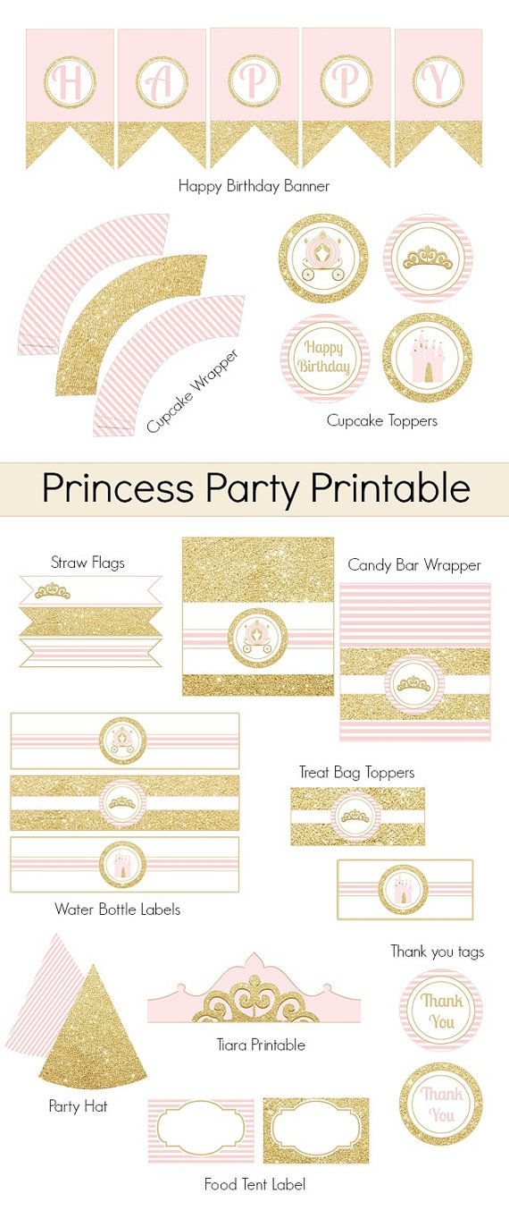 Princess PrintablePrincess Party decorationParty by Bernelo