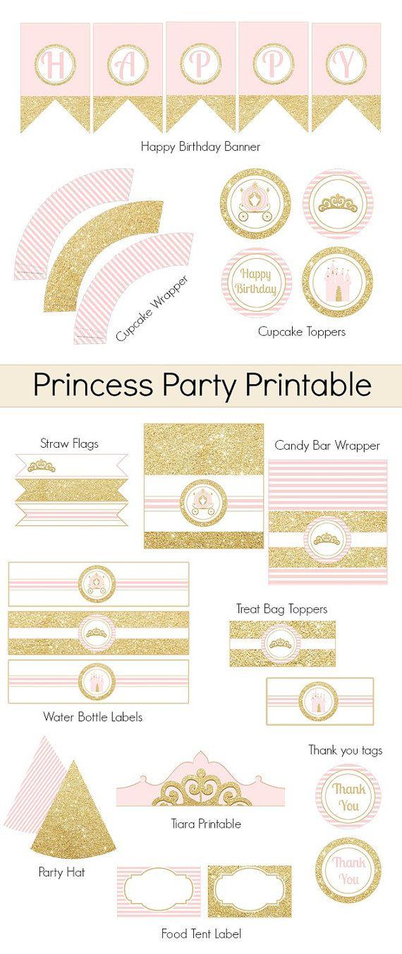 Para imprimir de princesa decoración del partido de la por Bernelo