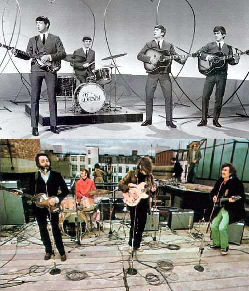 The Beatles - early days/later days contrast: The Beatles, Ears Beatles, Beatles Rooftops, Beatles Forever, Beatlemania Paulmania, Fab Beatles, Beatlesliverpool 12763, Beatlesth Fab, Beatles 1963