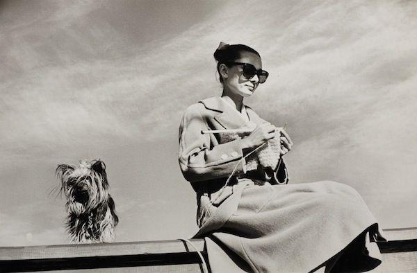 Audrey Hepburn and her Yorkshire terrier