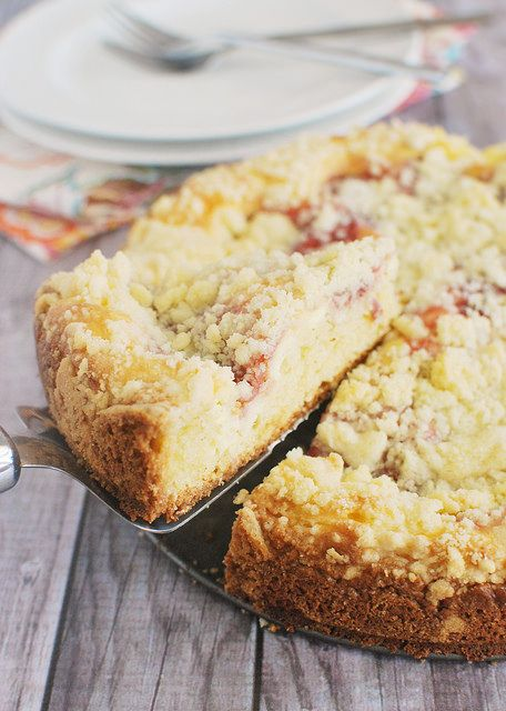 Make your morning happy with Strawberry Cream Cheese Coffee Cake!