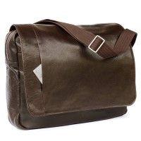 Jahn-Tasche – Elegante Laptoptasche / Notebooktasche bis 14 Zoll, aus Nappa-Leder, Braun, Modell 438 kaufen