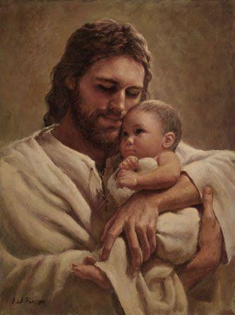 Jesus con un bebe