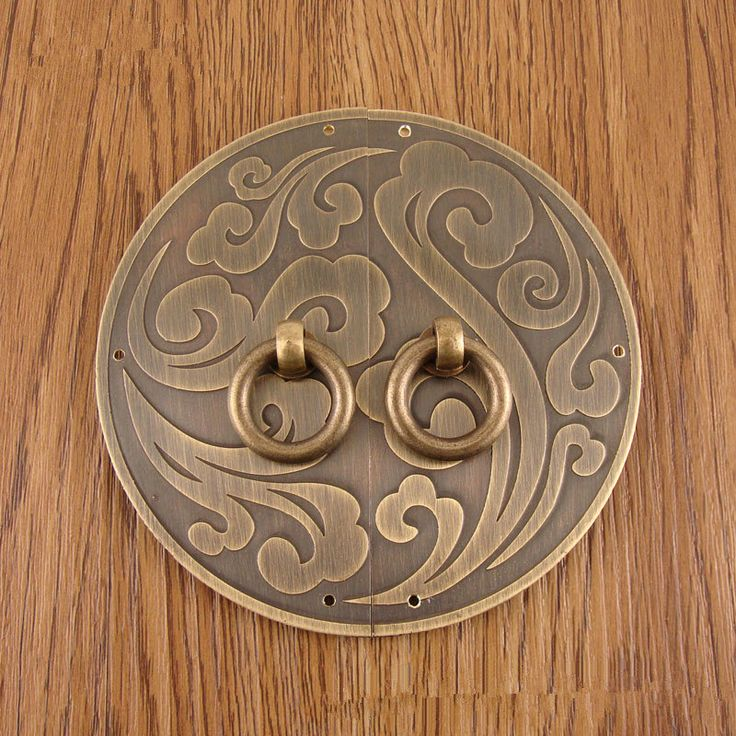 brass made :1 set of Decorative Cabinet door and window handle,Chinese cabinet brass handle----three size(11mm,14mm,18mm) by DiySupplyers on Etsy