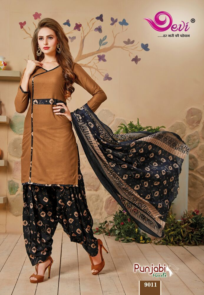 d91166216f Devi-punjabi kudi by devi designer colorful beautiful fancy cotton printed  punjabi style dress materials at wholesale price in 2019 | Printed Dress ...