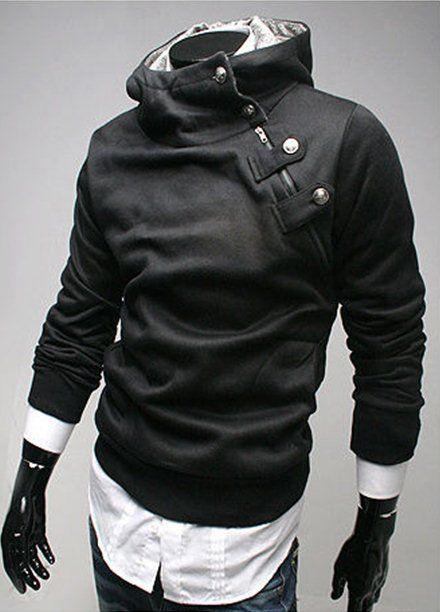 Freeship New Mens Stylish Slim Zipper hoodies jackets Hoody Fur collar Man's Pullover hoodies Outwear AsiaM L XL XXL
