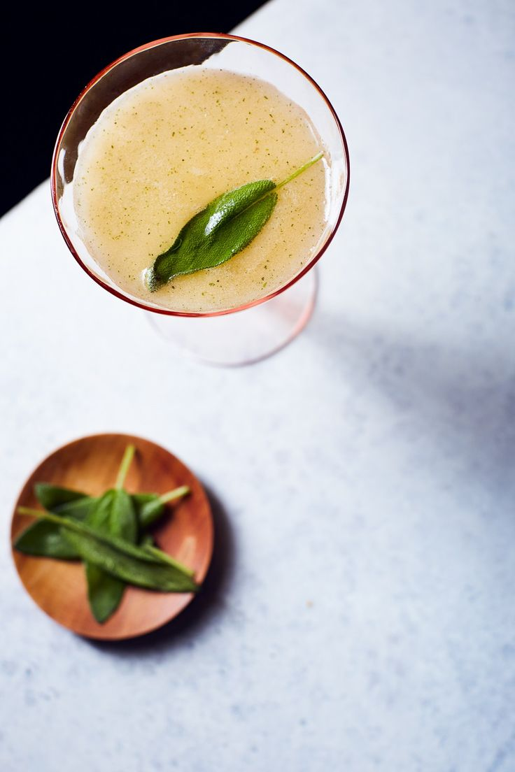 Asian Pear + Sage Gin Collins Cocktail   Hello My Dumpling