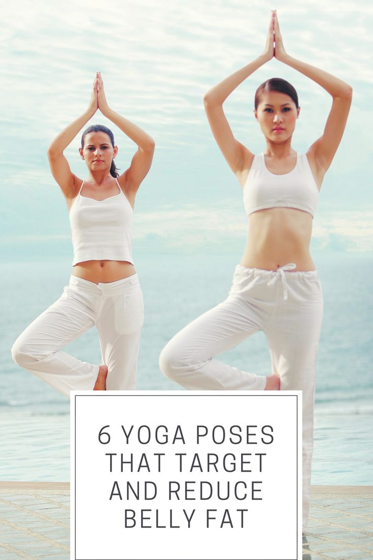 6 Yoga Poses That Target and Reduce Belly Fat  #yoga #bellyfat