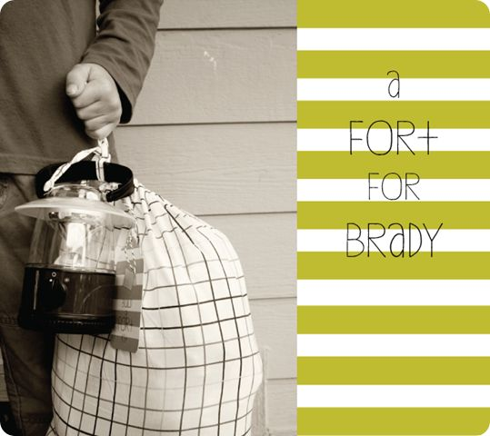 "Little boy (or girl) gift idea - ""Build a Fort Kit"""