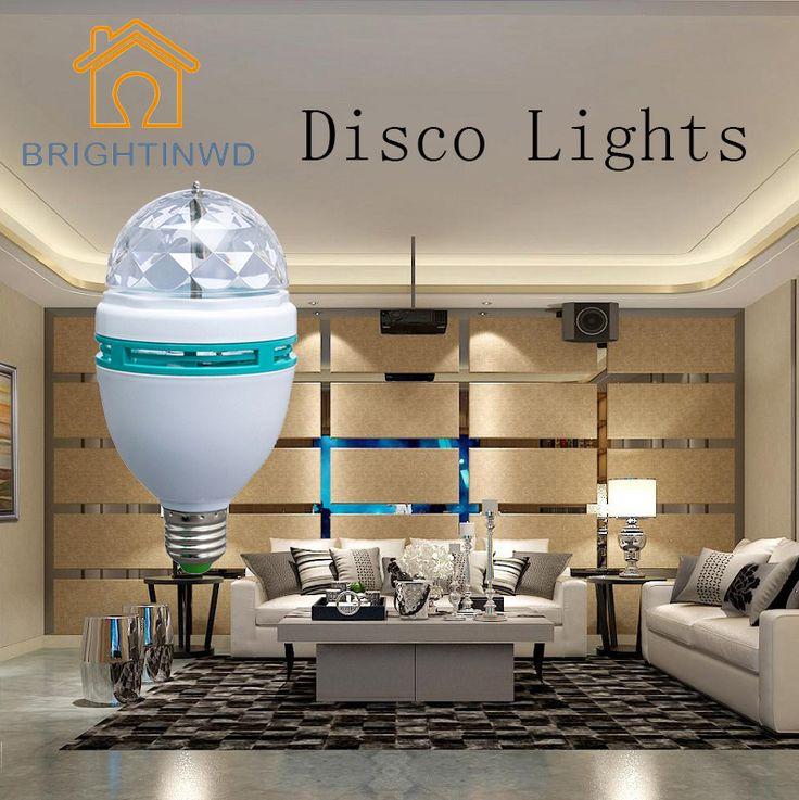 220V 3W RGB Lampada LED E27 Rotating Disco Ball Light Bulb For DJ Holiday Decoration Lighting Party Lights Novelty Nightlight