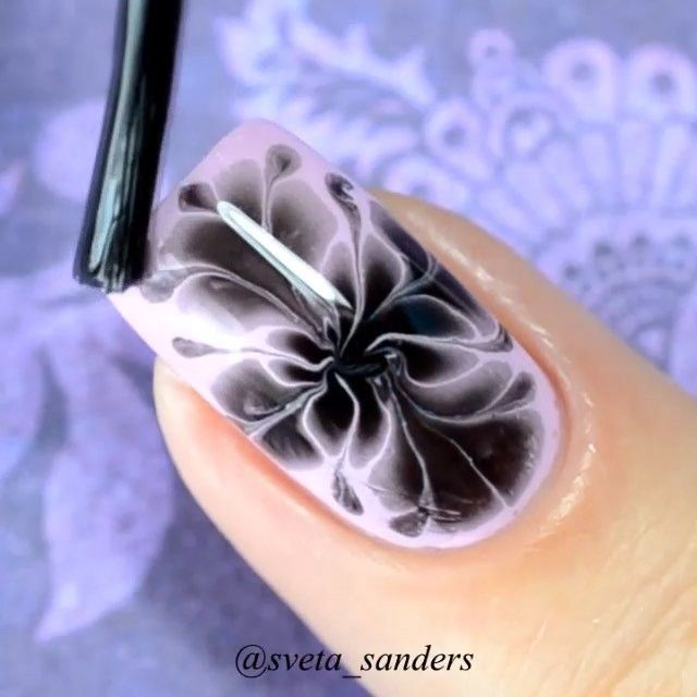 dry marble nails