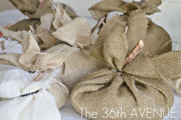 Comment ne pas faire de citrouilles couture de toile de jute par the36thavenue.com