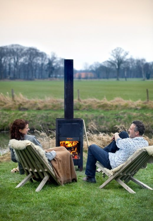 It's just the right time for a woodburning stove. Why not have one of these - Best 25+ Outdoor Wood Burning Fireplace Ideas On Pinterest