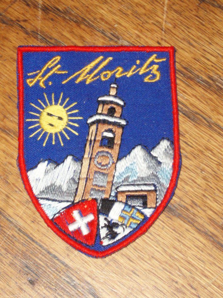 Vintage St Moritz Ski Or Hiking Patch Ebay Vintage Patches Pinterest Vintage Hiking And