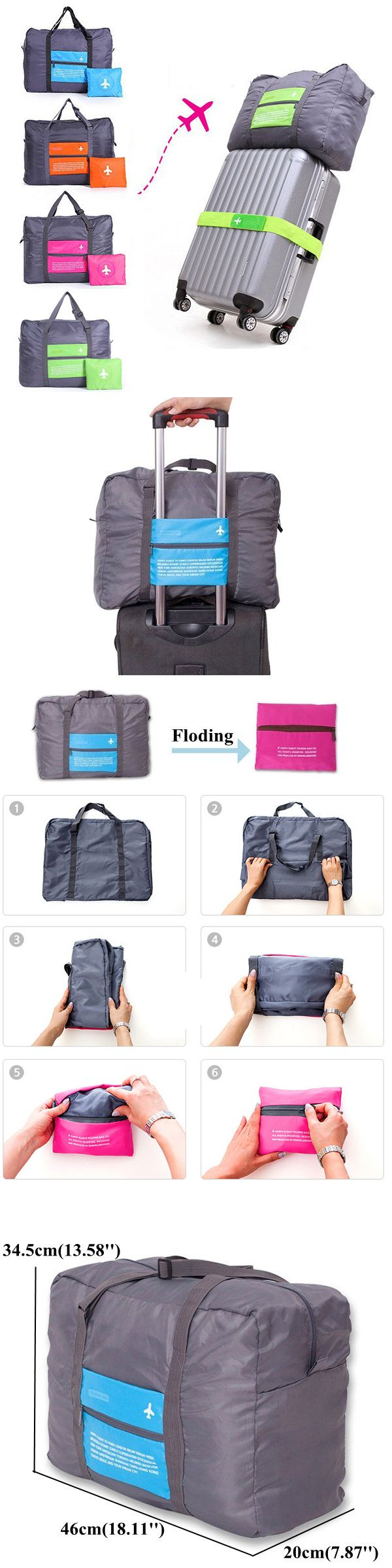 US$6.89 Four Colors Nylon Folding Large Capacity Travel Bag Storage Bag