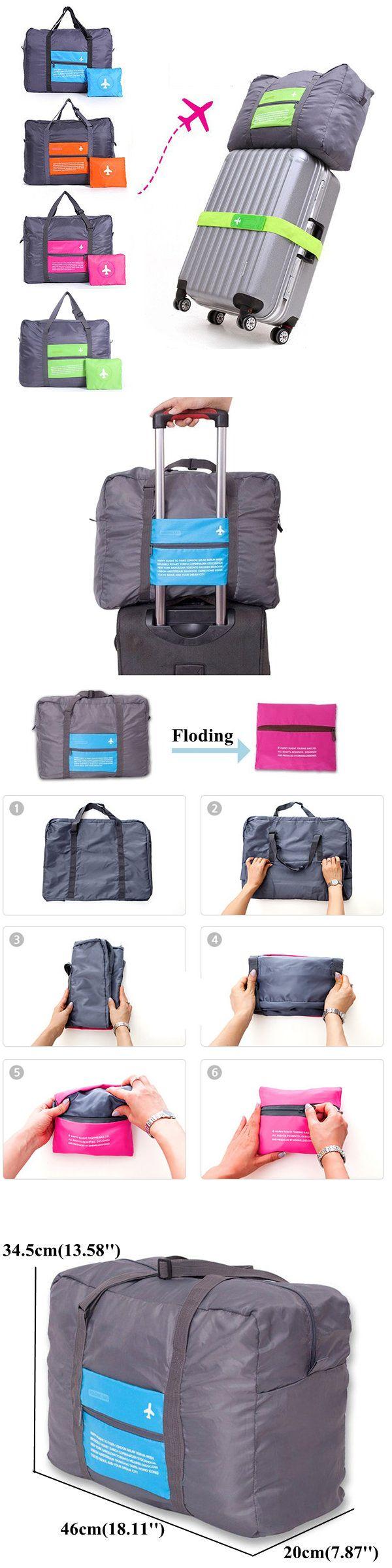 US$6.89 Four Colors Nylon Folding Large Capacity Travel Bag Storage Bag