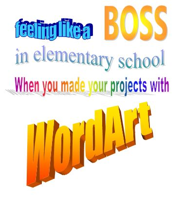 (word art,90s kids,school projects)