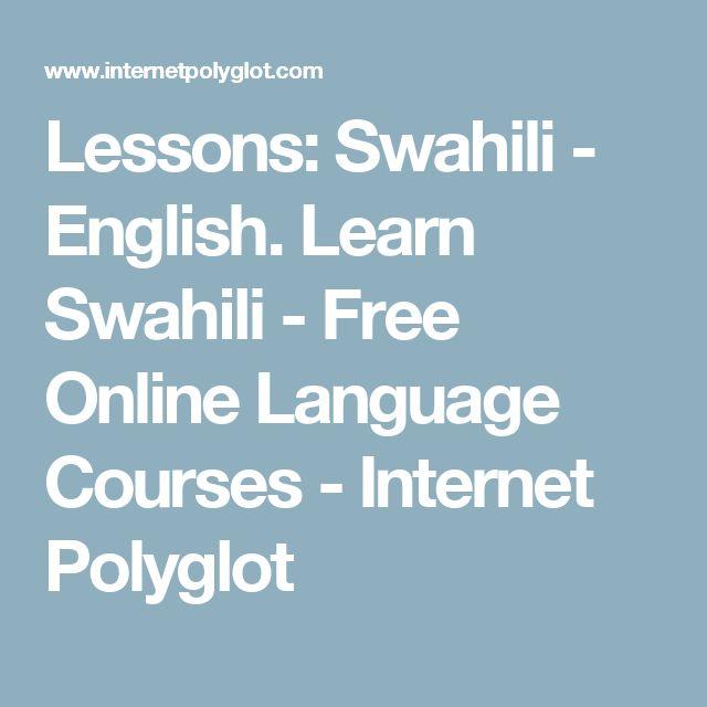 Lessons: Swahili - English. Learn Swahili - Free Online Language Courses - Internet Polyglot