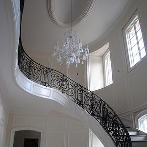 Black Stair Railing, Mediterranean, entrance/foyer, The Enchanted Home