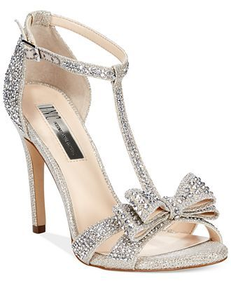 INC International Concepts Women's Reesie2 High Heel Evening Sandals in Champagne- Macy's $99.50
