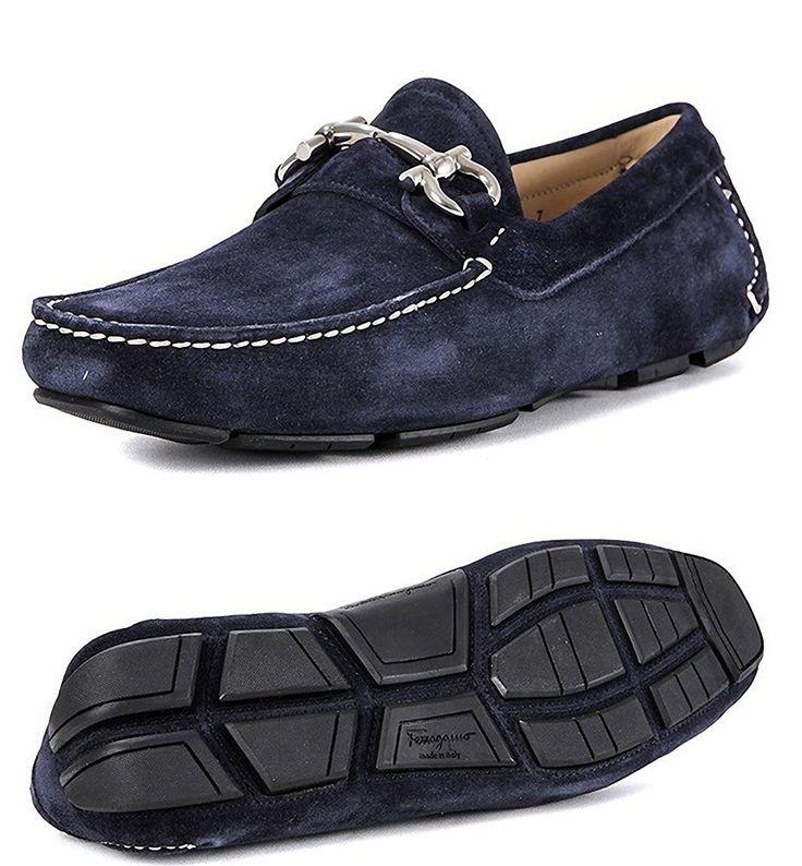 (フェラガモ) FERRAGAMO Men's Suede Loafers スエードドライビングシューズ (0430604)PARIGIROYAL name160620 (US8.0(約27.0cm)) [並行輸入品]