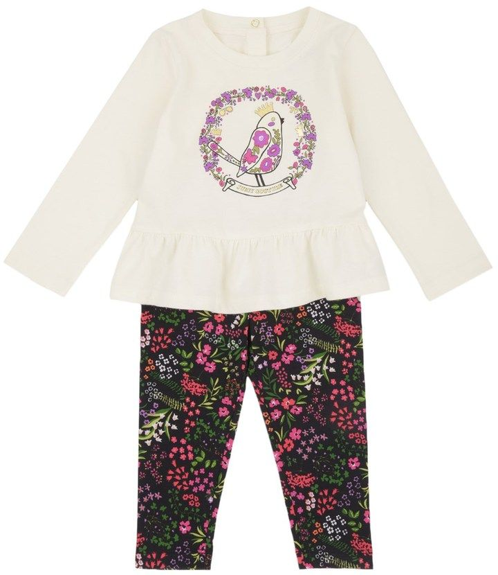 Juicy Couture Outlet - BABY KNIT FOLK BIRD LEGGING SET