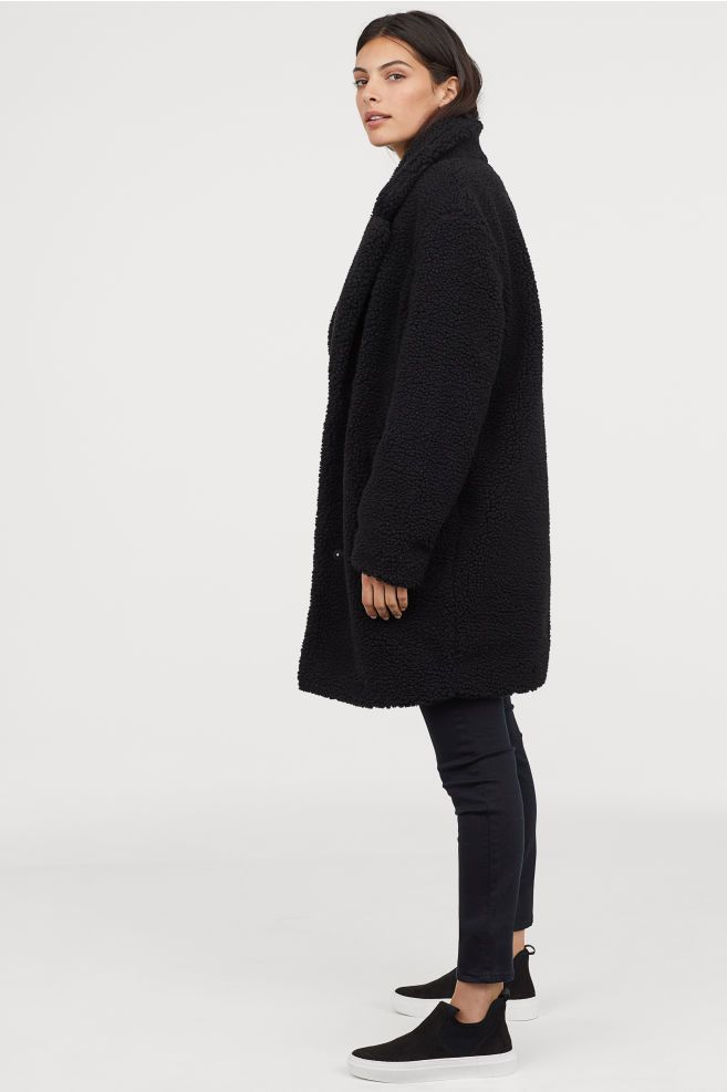 1a06181b042f Short Pile Coat - Black - Ladies