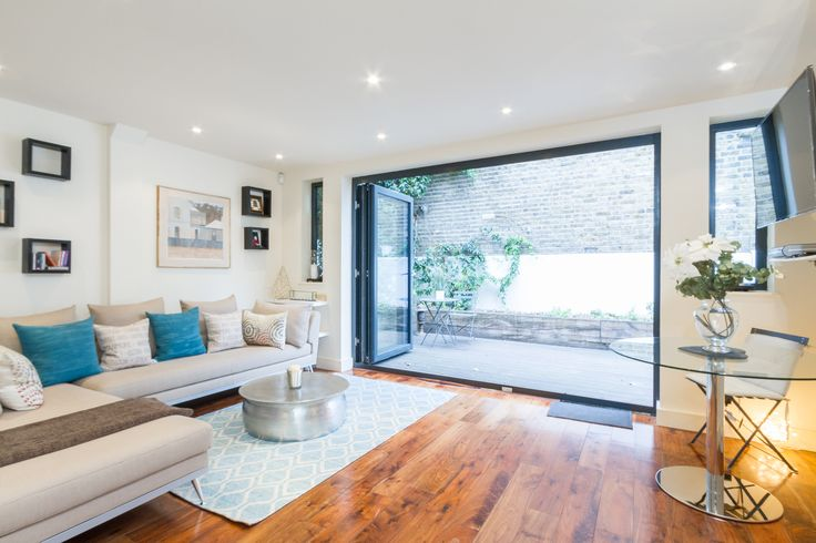 Reception room basement flat London SW6 #cutlerandbond #basementflat #gardenflat #londonproperty