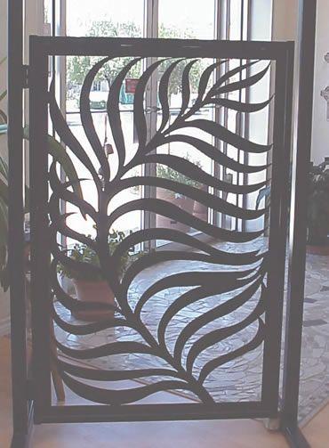 "Custom Garden Gates | Palm Gate"" Garden or Entry Gate."
