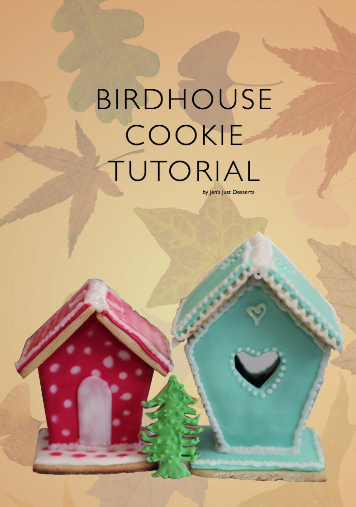 Birdhouse cookie tutorial by Cake Masters / vogelhuisje maken  handleiding gepind door www.hierishetfeest.com