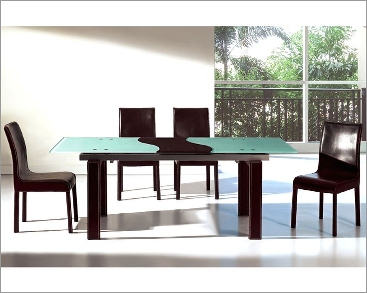 Modern two tone expandable dining set european design for 2 tone dining room sets