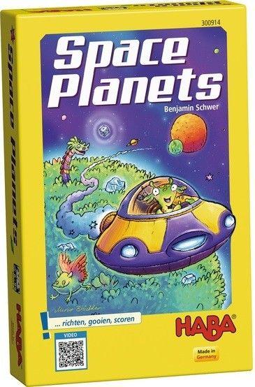 Engeltjes & Draken | Haba | Spaceplanets Een dobbel- en ontdekkingsspel voor 2 tot 4 moedige ruimtevaarders van 6 tot 99 jaar. Wie op het einde de meeste ontdekkingssterren heeft verzameld, is de moedigste ruimtereiziger! #haba #spaceplanets #bordspel #gezelschapsspel #engeltjesendraken