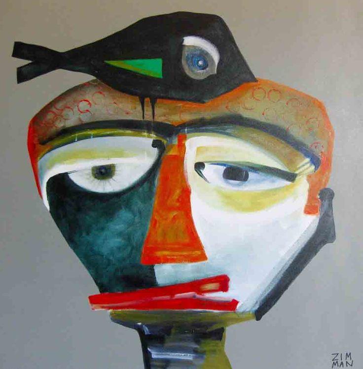Demi McLeod 'ZIM MAN II' 102 x 102 cm