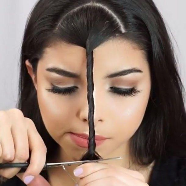 Frisuren DIY: SO schneidet ihr eure Haare selbst