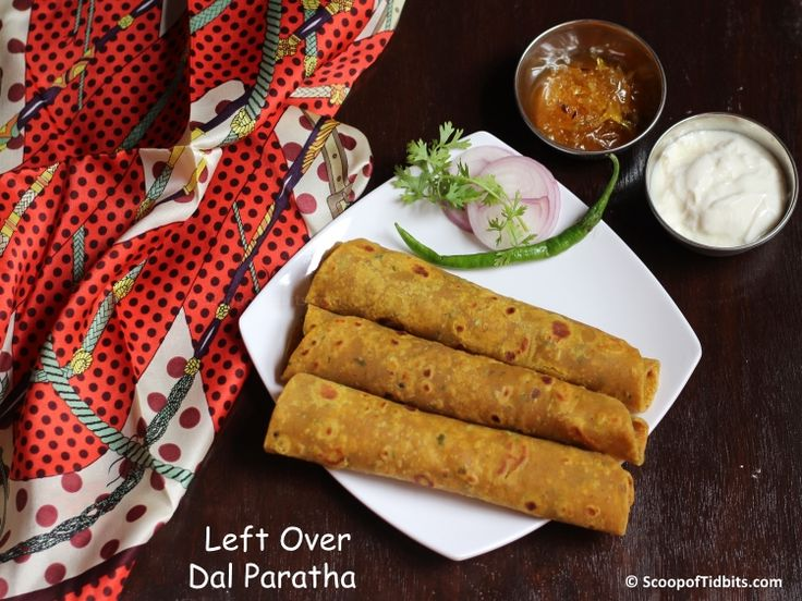 Left over Dal Paratha is a quite interesting and nutritious dish, made with wheat flour, spices and left over dals. These parathas are very easy to make an