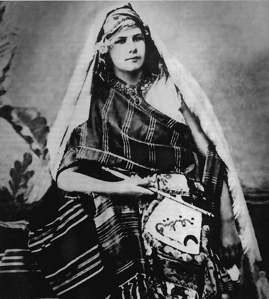 Isabelle Eberhardt ( 17 February 1877 - 21 October 1940) was a Swiss explorer who relocated to Algeria, converted to Islam and dressed as a man. She was an ardent supporter  of indigenous North Africans and wrote extensively on anti-colonialism.